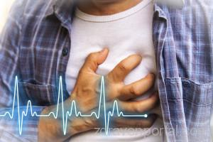 Men with chest pain - heart attack