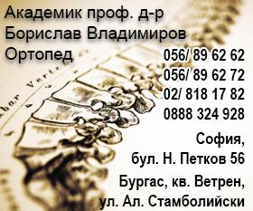 Академик проф. д-р Борислав Владимиров